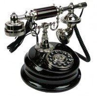 Телефон-ретро черного цвета