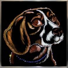 Картина Swarovski Символ года. Бигль