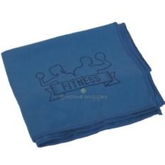Синее полотенце для фитнеса Тонус
