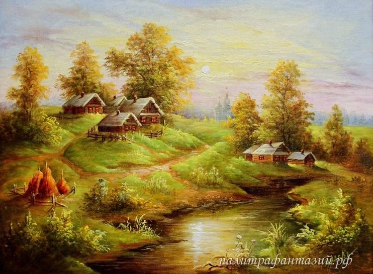 Картина Летний вечер у реки