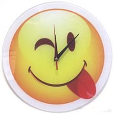Часы настенные Смайлик, стекло