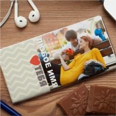 Шоколадная открытка  Люблю тебя