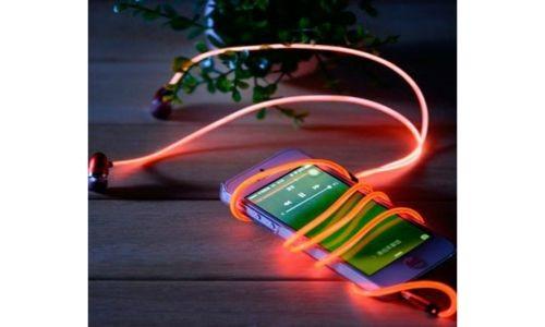 Вакуумные наушники с подсветкой