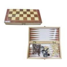 Игра 3 в 1 Шахматы, шашки, нарды, размер 39 х 19,5 х 4 см