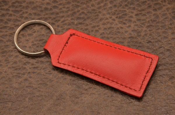 Брелок для ключей. Коллекция Amelie (Красный; нат. кожа)