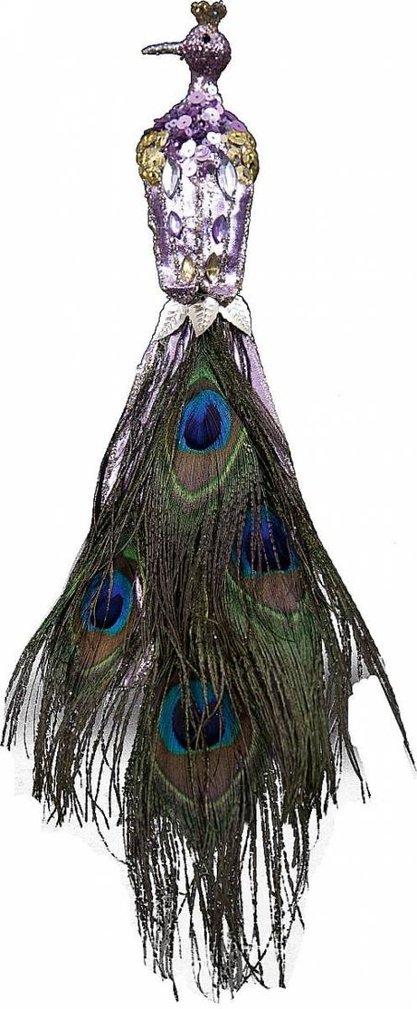 Новогоднее коллекционное елочное украшение Павлин