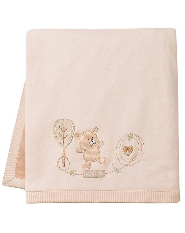 Велюровое детское одеяло с именной вышивкой