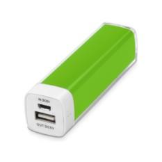 Портативное зарядное устройство Ангра салатового цвета