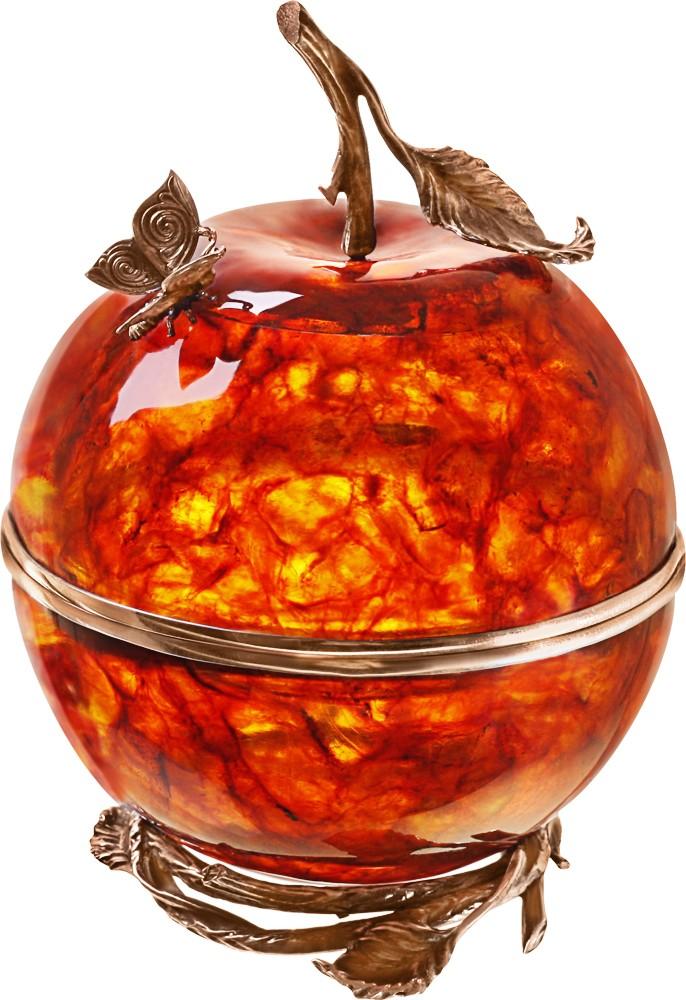 Шкатулка «Запретный плод» в бронзе