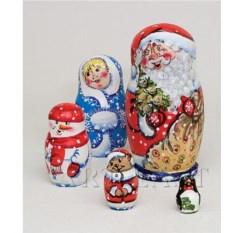 Матрешка Семейка Деда Мороза