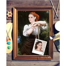 Портрет по фото на холсте Крестьянка