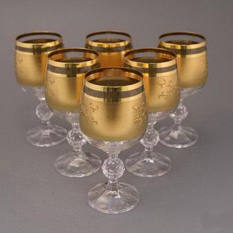 Набор фужеров для вина позолоченный «Клавдия»