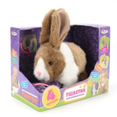 Интерактивная игрушка кролик Ушастик