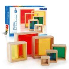 Сортер-пирамидка «Радужные блоки»
