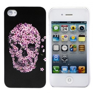 Чехол для iPhone 4/4S Flower Skull (черный)
