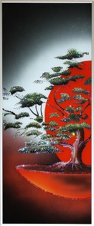 Картина Swarovski Древо на закате