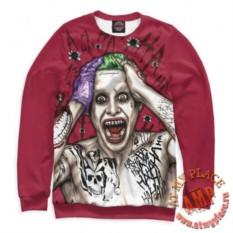 Красный свитшот Отряд самоубийц - Джокер