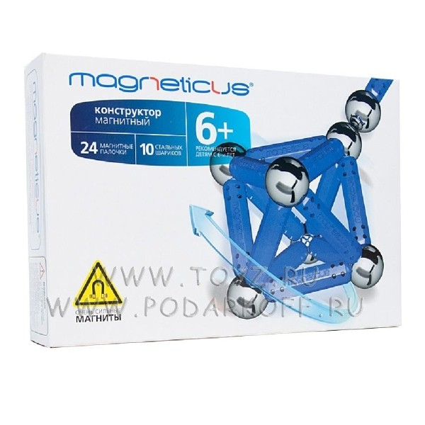 Magneticus конструктор (34 элемента) синий