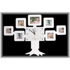 Настенные часы с фоторамками Семейное дерево