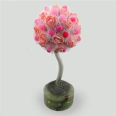 Дерево-топиарий из агата Агатовый рай