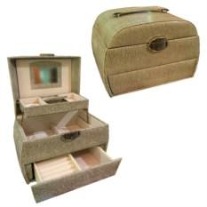 Светло-бежевая шкатулка-автомат в подарочной упаковке