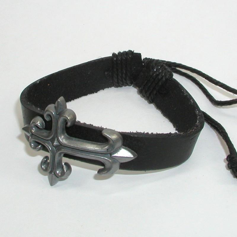 Кожаный браслет Ратибор