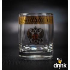 Набор из 4 стаканов для виски Герб