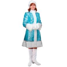 Бирюзовый новогодний костюм Снегурочка
