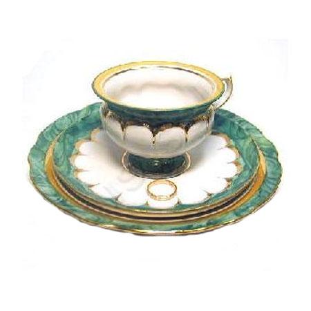 Чайная тройка «Малахит»
