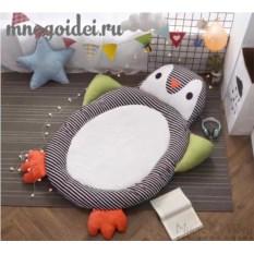 Теплый детский игровой коврик Удивленный Пингвин