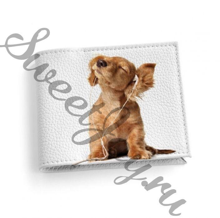 Кожаная обложка для студенческого Music Dog