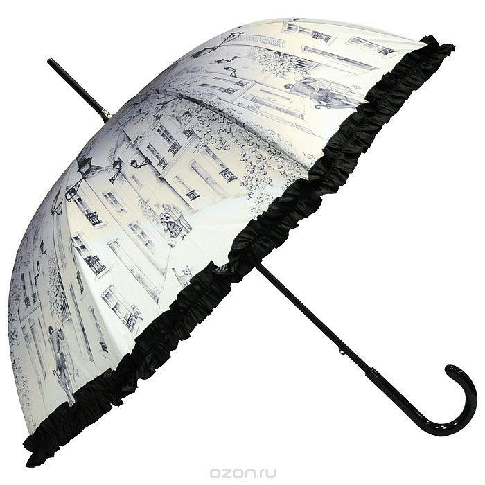Женский полуавтоматический зонт-трость Guy de Jean Balade