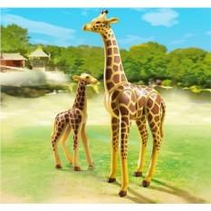 Конструктор Playmobil Жираф со своим детенышем жирафом