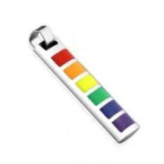 Разноцветный стальной кулон Spikes