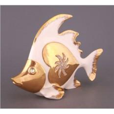 Фигурка Белая рыба со стразами