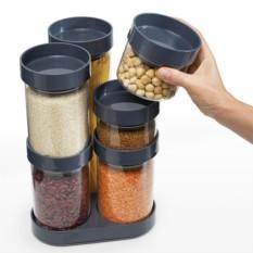 Серый набор ёмкостей для хранения Food Store™ Carousel