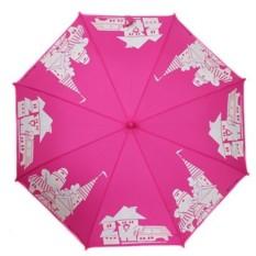 Розовый детский зонт Flioraj