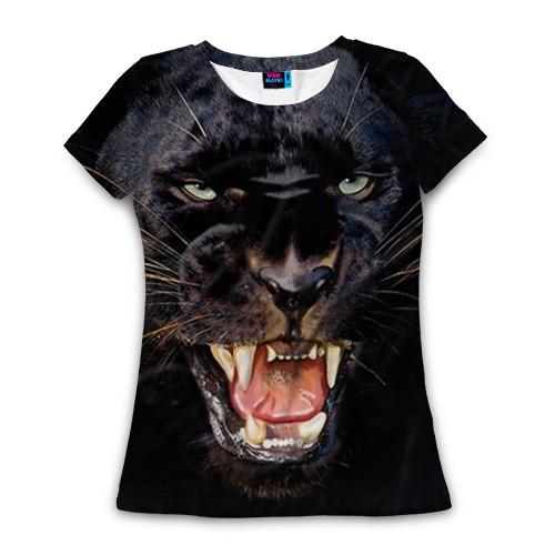 Женская футболка 3D с полной запечаткой Пантера