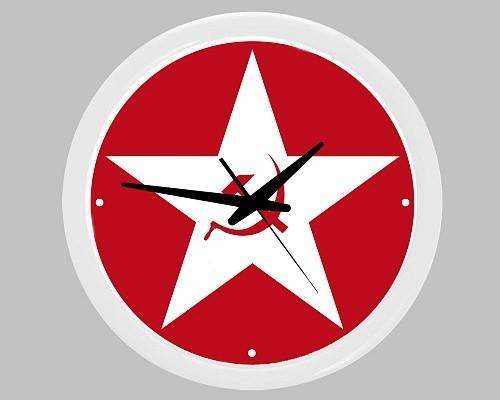 Настенные часы «Звезда. Серп и молот»