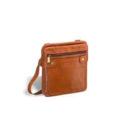 Кожаная сумка через плечо Brialdi Newport (коричнево-рыжий)