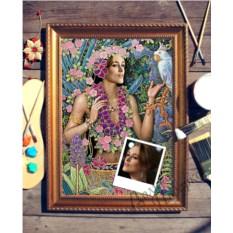 Портрет по фото Цветы