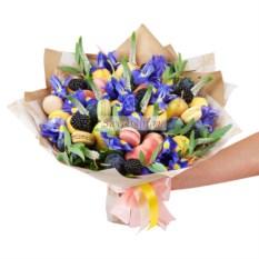 Букет из фруктов и цветов Сладкий день