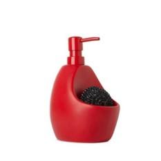 Красный диспенсер для мыла с подставкой для губки Joey