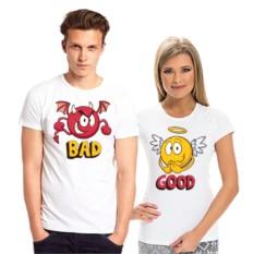 Парные футболки Bad - Good
