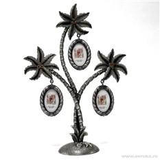 Рамка для фотографий в виде пальмы на 3 фото