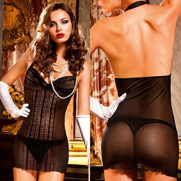 Мини-платье Mafia OS (42-46), черное с сеточкой
