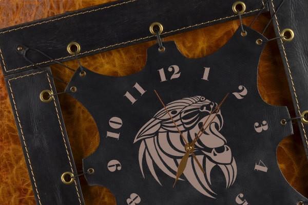 Часы из кожи Пантера (черный)