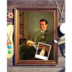 Портрет по фото Мужчина с газетой