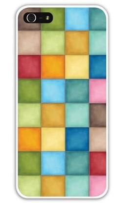 Чехол-накладка для iphone 5/5S, разноцветные квадраты