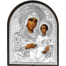 Иерусалимская икона Божией Матери в  серебряном окладе.